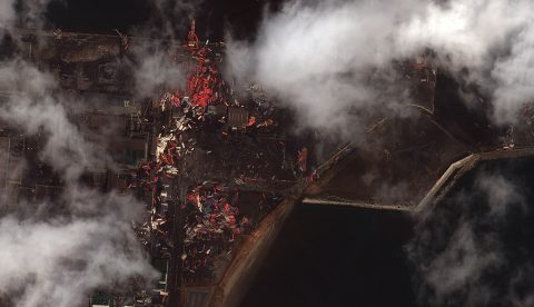 Earthquake and Tsunami damage-Sendai Port, Japan